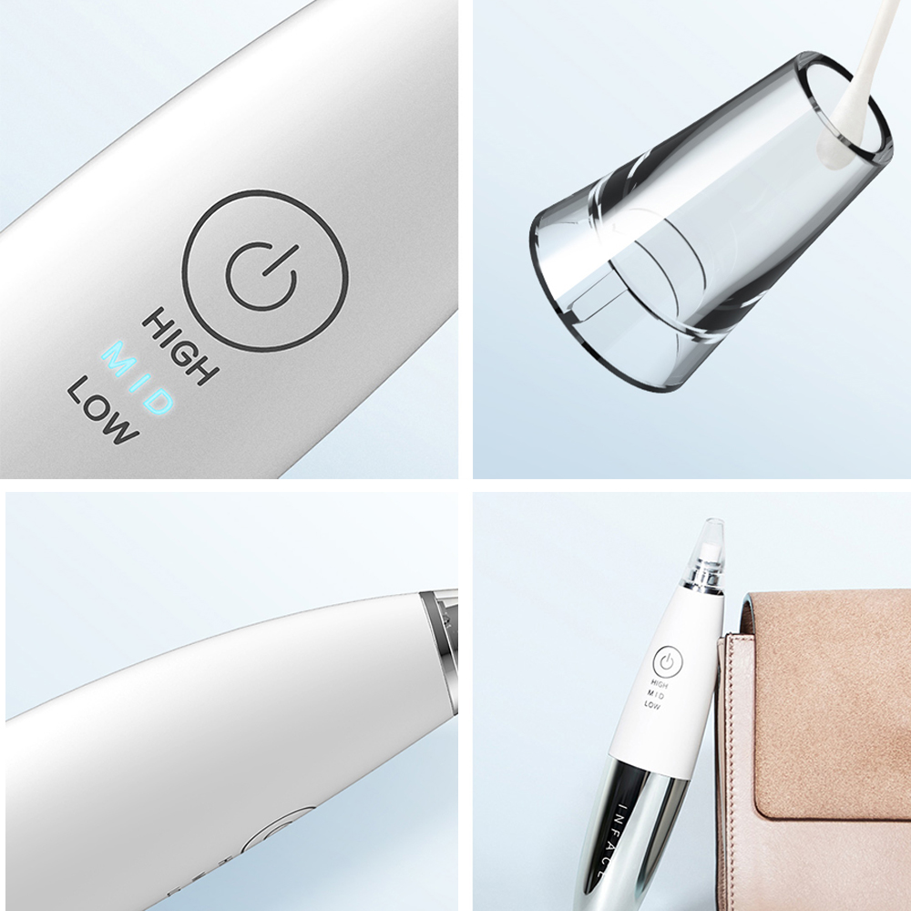 Image 5 - Xiaomi InFace Electric Blackhead Remover Vacuum Suction Dermabrasion Acne Pore Peeling Face Clean Facial Skin Care Beauty Tools-in Powered Facial Cleansing Devices from Home Appliances