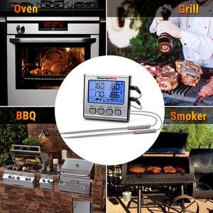 Image 5 - ThermoPro TP17 çift probları dijital açık et termometresi pişirme barbekü fırın termometresi büyük LCD ekran ile mutfak için