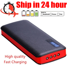 Power Bank 2020 New Powerbank Waterproof Quick Charge 3 USB and 4 LED External Battery Flashlights LCD Display for Smartphones cheap NoEnName_Null Other with Flashlight Digital Display Triple USB 30000mAh for Laptop for Tablet for Drones for Camera USB Type C