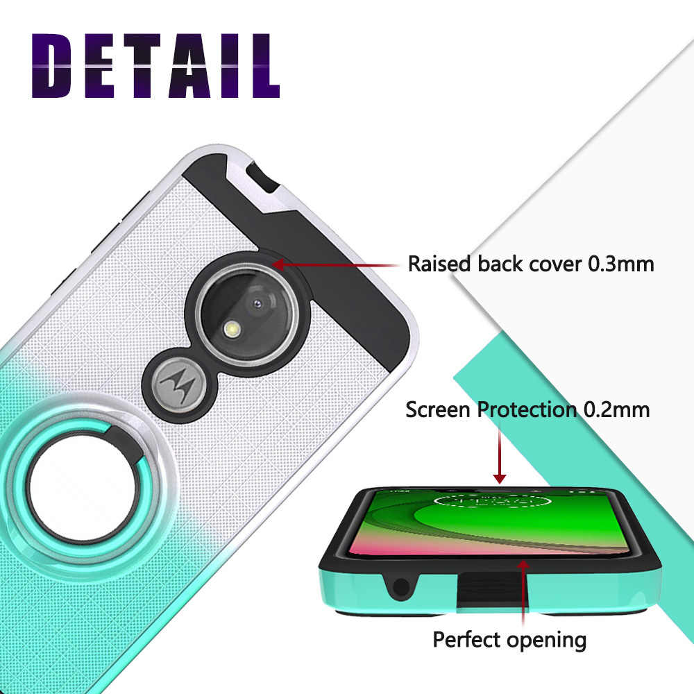 Армированный Мягкий противоударный чехол для Motorola Moto G7 power Cover кольцо держатель подставка чехол для телефона