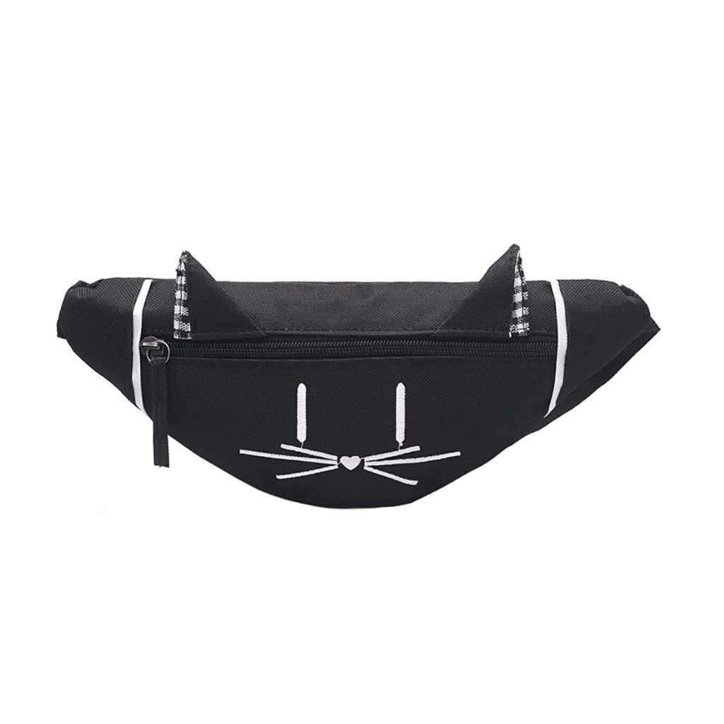 Femmes enfants Mini poitrine sac Fanny Pack mignon oreille imprimé mode poitrine Nylon poche argent ceinture taille Packs sac 2019 # nouveau