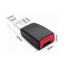 1Pc di Sicurezza Auto Cintura Extender Cintura di Copertura Della Cintura di Sicurezza Cintura di Sicurezza Imbottitura di Estensione Spina Fibbia Fibbia Cintura di Sicurezza Clip di Accessori Auto