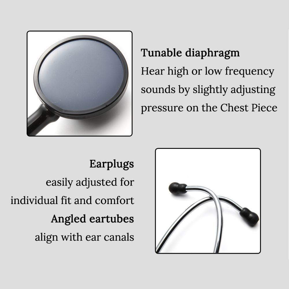 Image 4 - Professional Heart Lung Cardiology Stethoscope Doctor Student  Medical Equipment Device Medical Doctor Single Head  StethoscopeStethoscope