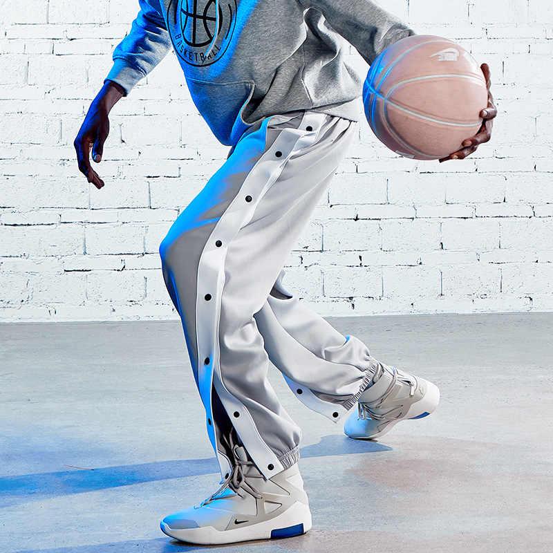 Mens SWEATPANTS Pants Black White CITY CAMO Elastic Waist Gym Workout Basketball