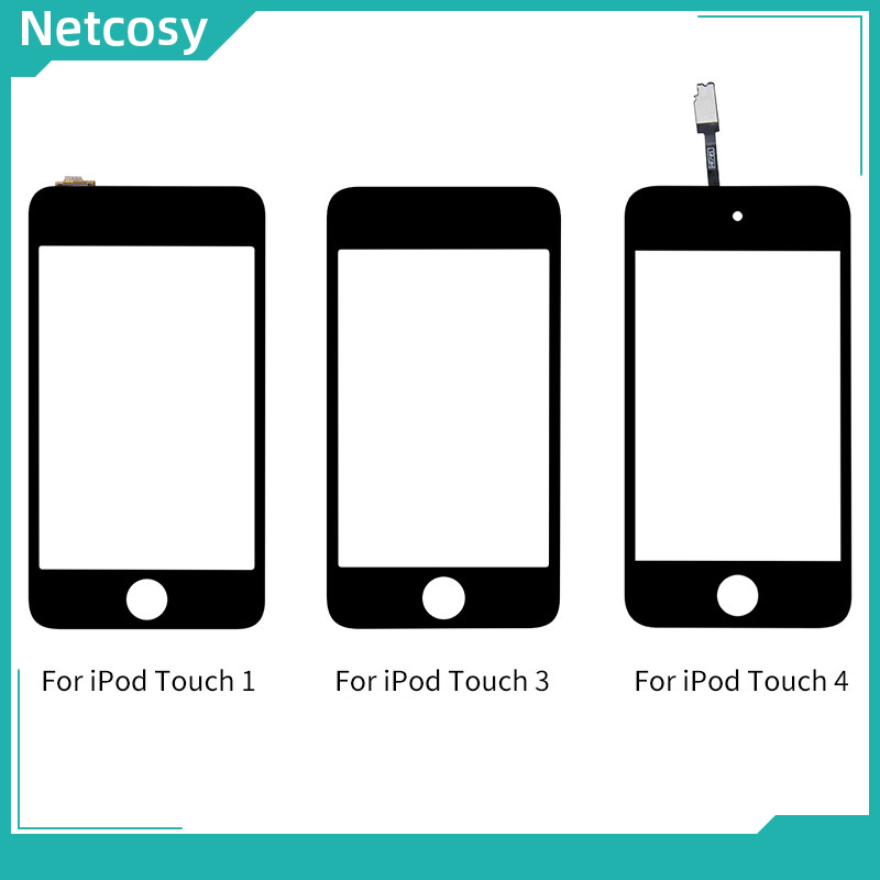 Netcosy For iPod Touch 1 3 4 Generation Black Touch Screen Digitizer Glass Lens Panel Replacement Parts For iPod Touch 1 3 4(China)