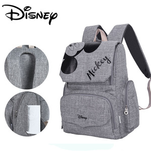 Image 2 - Disney Fashion Maternal Baby Diaper Bag For Mummy Mickey Minnie Diaper Backpack Stroller Bag Mickey Handbags Maternity Backpack
