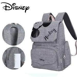 Image 2 - Disney Mode Maternal Baby Luiertas Voor Mama Mickey Minnie Luier Rugzak Wandelwagen Zak Mickey Handtassen Moederschap Rugzak