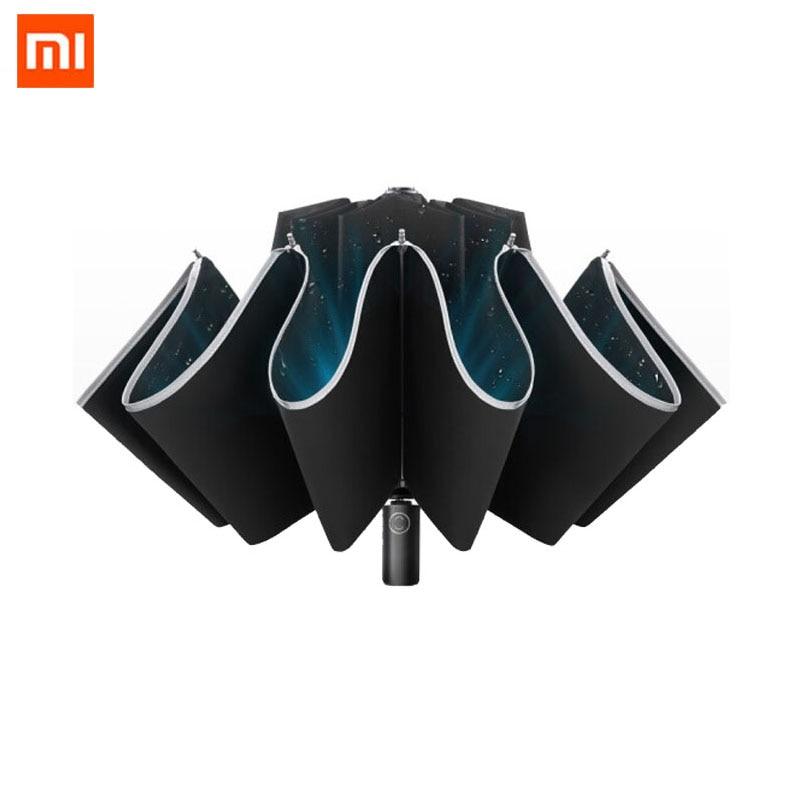 Original Xiaomi Automatic Folding Automatic Open Reverse Umbrella Male Creative Sunny Rain Strong Reflective Anti-wind Umbrella