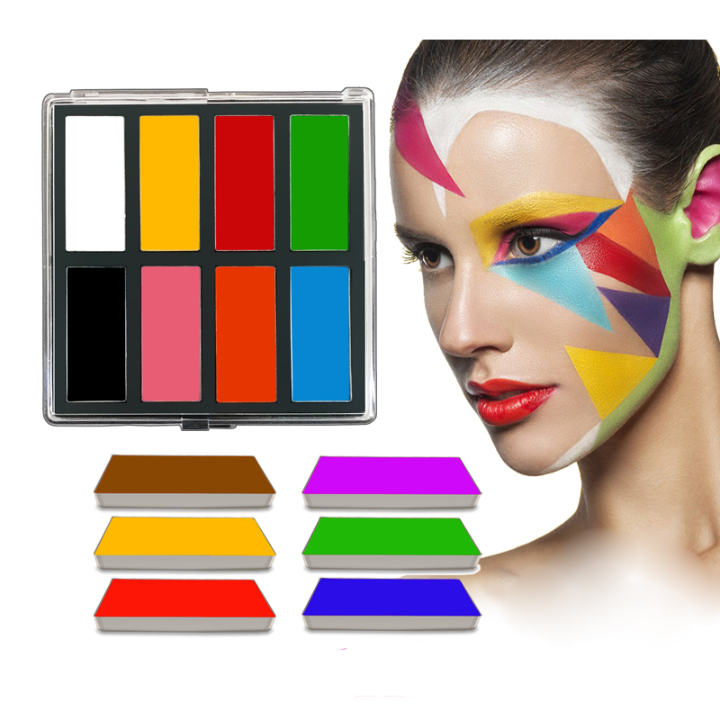 Creamy Body Painting Oil Based Cosplay White Black Red Palettes Cosmetic Makeup Body Art Face Paints Belly Kids 10g