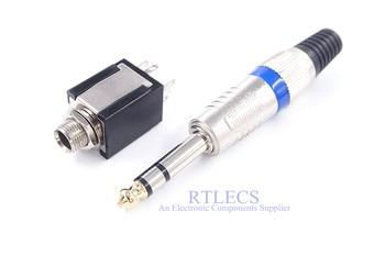 10pcs 6.35mm 3 Pole Plug TRS 1/4
