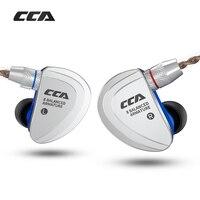KZ CCA C16 8BA Drive Unit In Ear Earphone 8 Balanced Armature HIFI Monitoring Earphone Headset With Detachable Detach 2PIN Cable
