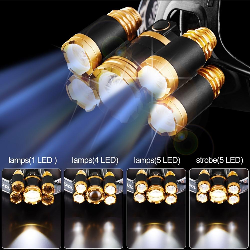 Мощный светодиодный головной светильник t6 фара 8000 Люмен Масштабируемые