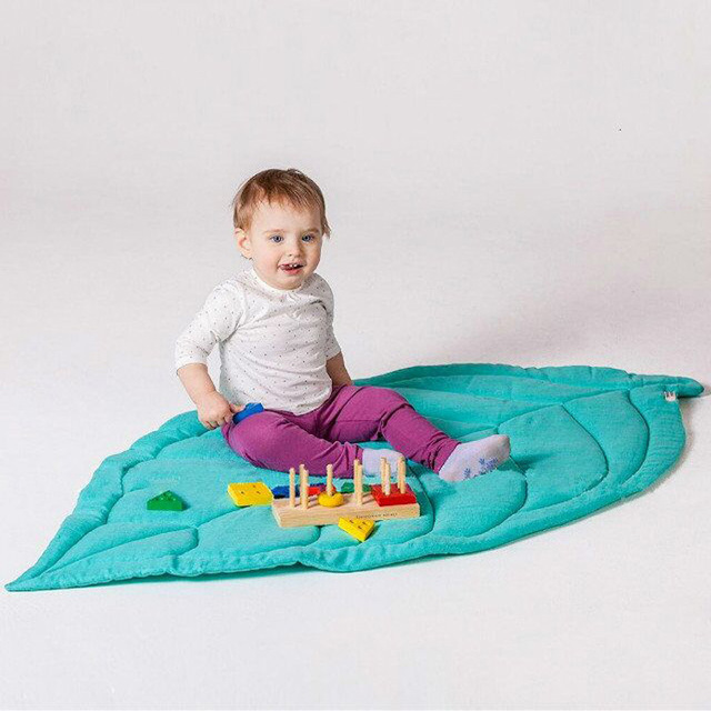 Cotton Climbing Carpet Baby Play Mats Newborn Infant Soft Sleeping Mat Crawling Blanket Leaves Shape Carpet Rug Toys Mat