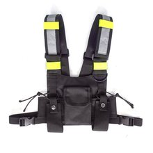 2019Radio Harness Chest Front Pack Pouch Holster Vest Rig bag for Walkie Talkie Tactical Headsets & Accessories(China)