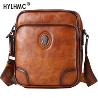 Cowhide Messenger Bag Men's Leather Shoulder Bag Casual Men Bag Korean Small Fashion Back Pack Tide Brand Oblique Cross Bag New