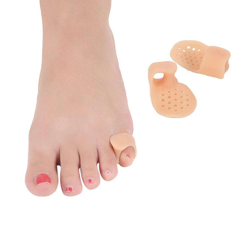 2Pcs Little Toe Thumb Daily Use Silicone Toe Bunion Guard Foot Care Finger Toe Separator Hallux Valgus Toes Separators Foot Car