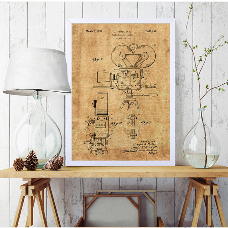 Camera Patent Poster Wall Art Prints