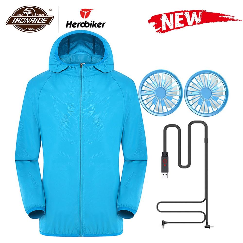 Новая летняя мотоциклетная куртка, водонепроницаемая охлаждающая куртка для мужчин и женщин, Солнцезащитная куртка с USB зарядкой, 6 цветов, S 5XLКуртки    АлиЭкспресс