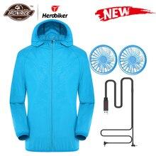 Nieuwe Zomer Motorjas Waterdicht Fan Cooling Jacket Mannen Vrouwen Zon Bescherming Met Usb Charing 6 Kleur S 5XL