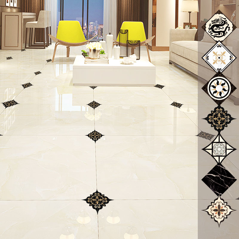 1set=21pcs Self-adhesive Bedroom Floor Tile Diagonal Sticker Waterproof and Mildew Beauty Seam Stickers Wall Gap Decoration image