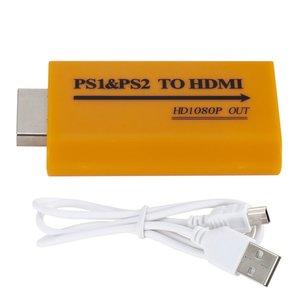 HD портативный желтый аудио видео 1080P HDTV адаптер Аксессуары PS1 PS2 в HDMI игры мини конвертер Plug And Play запчасти