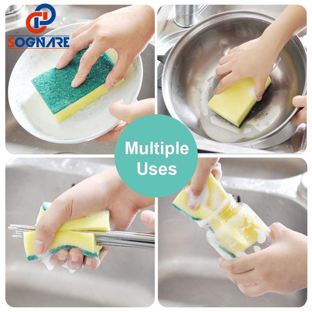 2-in-1 Soap Pump Dispenser Kitchen Hand Press Soap Organizer New Creative Cleaning Liquid Dispenser Container with Sponge Holder