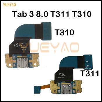 Charging Flex For Samsung Galaxy Tab 3 8.0 T311 T310 USB Charger Dock Connector Charging Port Flex Cable image