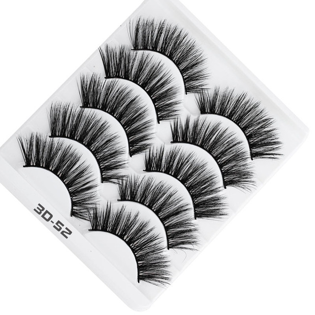 AY 5 Pairs Beauty lashes Eyelashes Mink 2020 New 3D Mink lashes Womans Makeup Tools Wholesale Eeyelashes Mink lash Vendors 4