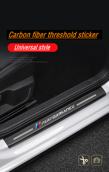 bmw m sticker m performance bmw motorsport bmw e46 e90 x5 f15 f30 m power Car Door Sill Protective Sticker Door Threshold Carbon image