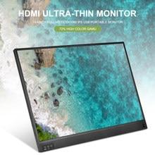 15.6 inç Full HD 1920x1080 IPS USB taşınabilir monitör büyük ekran HDMI ultra-ince monitör dizüstü bilgisayar aksesuarları 2021 yeni