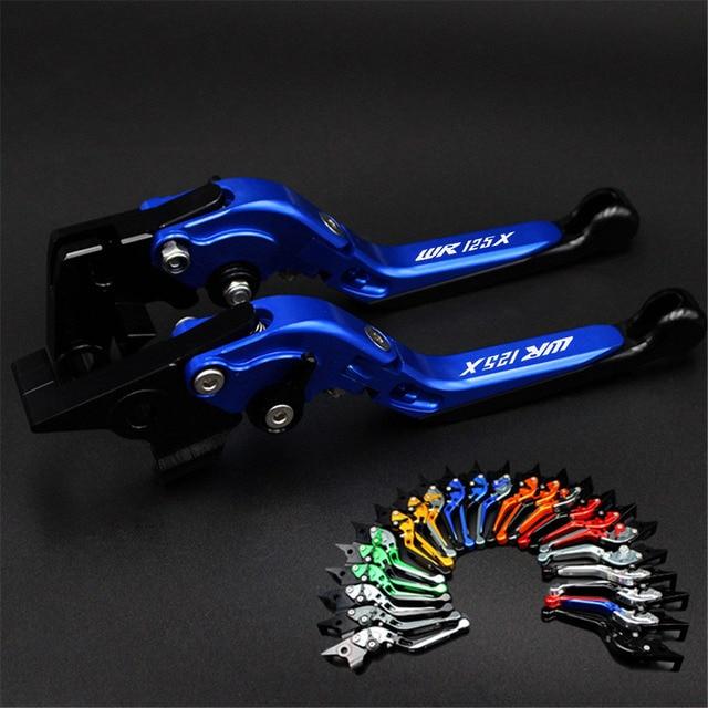 Alavancas de freio embreagem da motocicleta para yamaha wr 125 x wr 125x wr125 x wr125x 2012 2016 ajustável folding alavancas de freio 2015 2014