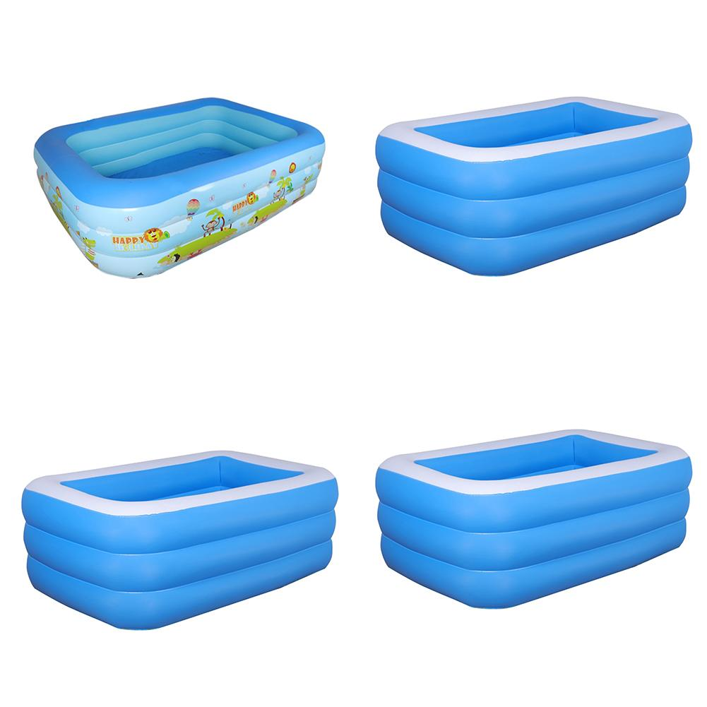 Inflatable Rectangular Swimming Pool Thickening Inflatable Pool For Kids Adult Outdoor Garden Backyard Summer Water Party