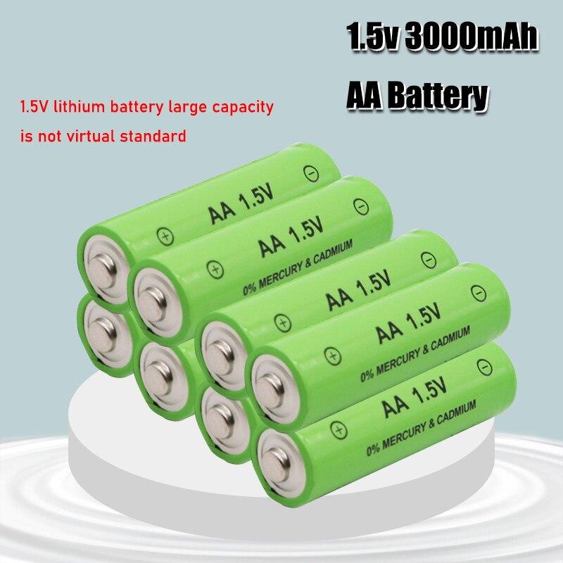 1,5 V 3000mah AA Batería alcalina recargable de 2100mah de la batería AAA de 1,5 V para la batería linterna recargable de la batería