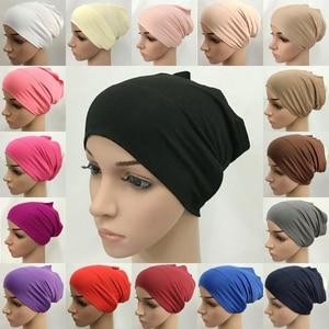 100% Cotton Muslim Underscarf Inner Tube Cap Islamic Eid Prayer Hijab Bottom Hat Headwear Arab UAE Women Wrap Headscarf Turban