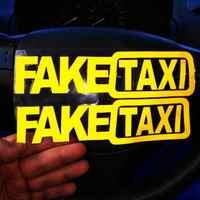 FAKE TAXI NOVELTY JOKE FUNNY Car Bike Van Window Bumper Sticker Vinyl Decal Auto Funny Bumper Window Body Vinyl Decal Car Sticke