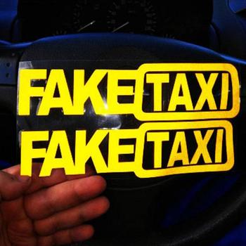 FAKE TAXI NOVELTY JOKE FUNNY Car Bike Van Window Bumper Sticker Vinyl Decal Auto Funny Bumper Window Body Vinyl Decal Car Sticke image