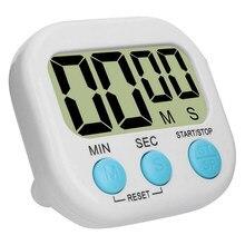 1pc digital cozinha temporizador suporte de apoio magnético contagem regressiva alarme mini lcd dígitos grandes alarme alto para cozinhar jogos esportes cozimento