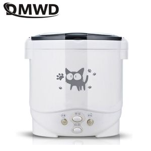 DMWD Electric Rice Cooker For Dormitory Travel Portable Soup Pot Multicookings lunch box For Household 220V /Car 12V /Truck 24V