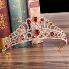 Luxurious Rhinestone Cubic Zircon Crown Women Tiara Diadem Headpiece Wedding Bridal Headdress Headwear Hair Jewelry Bijoux цена и фото