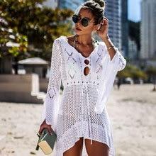 Roupa de praia sexy feminina de verão, saída de praia de crochê, túnica, roupa de banho, capa de biquíni, 2020 # q719