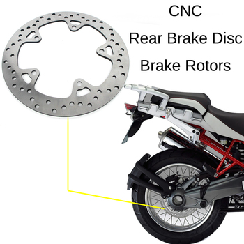 For BMW R 1200 GS adv R1200 2004-2012 Adventure R1200GS ABS Motorcycle CNC Rear Brake Disc Brake Disk Rotor Stainless Steel 100% brand new rear brake disc rotor for motorcycle r 1200 st 1200 2005 2008