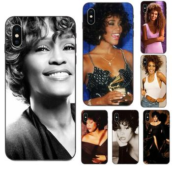For Apple iPhone 4 4S 5 5S SE 6 6S 7 8 11 Plus X XS Max XR Pro Max TPU Mobile Pouch Retail Whitney Houston Star Luxury image