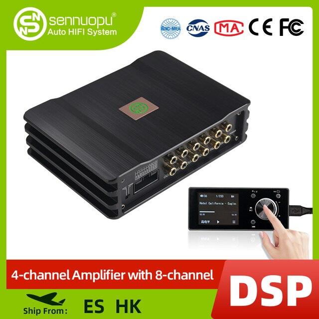 Sennuopu רכב DSP מגבר 8 ערוצים אקולייזר מעבד USB נגן עם LCD מרחוק בקר