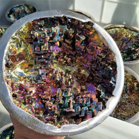 1pc 160mm 180mm Rainbow Color raw Natural Bismuth Crystal Mineral Rough Metal Ore Crystals for 7 Chakra Healing Decorative