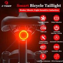 Фсветильник задний велосипедный X-Tiger, IPx6, светодиодный, с датчиком торможения