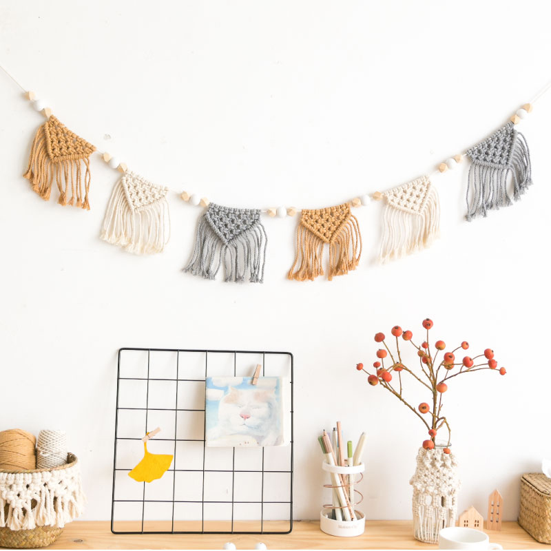 Macrame  Wall Decor  Woven Tapestry Creative Hangs Ins Bedroom Bedside Wall Hanging Decoration Accessories