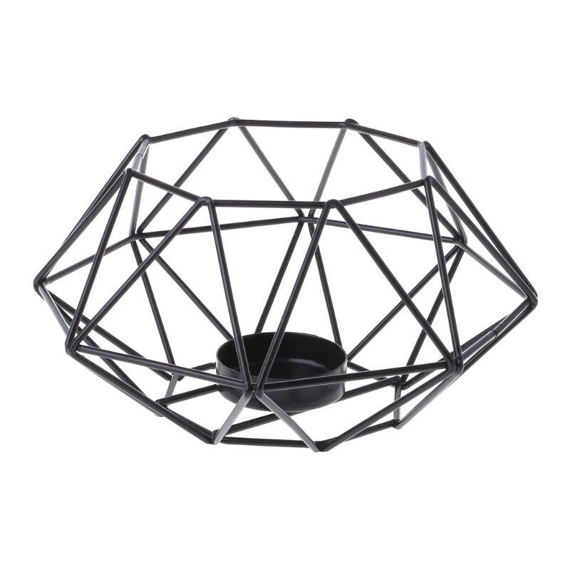 Candelero de estilo nórdico 3D Octágono geométrico Metal vela té luz candelabro decoración para el hogar de la boda Vintage marroquí geométrica controles cortinas de tratamiento de ventanas cenefa ventana persianas cortinas de baño cocina dormitorio