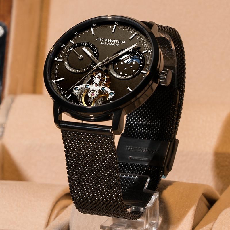 2019 oem часы мужские 시계 로고 tourbillon 자동 기계 relogio masculino 스테인레스 스틸 손목 팔찌 시계-에서기계식 시계부터 시계 의  그룹 1