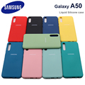 Чехол для Samsung A50 galaxy a 50 2019 A505 A50S A30S, чехол из жидкого силикона, шелковистая, мягкая на ощупь защитная задняя крышка, противоударный