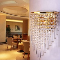 Quarto moderno minimalista sala de cristal lâmpada de parede de cristal cama K9 do corredor varanda lâmpada de parede de cristal